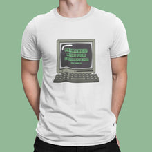 Load image into Gallery viewer, Man wearing White Binaries Are For Computers T Shirt