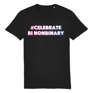 #CelebrateBiNonBinary | Non Binary Bisexual Pride Shirt | Rainbow & Co