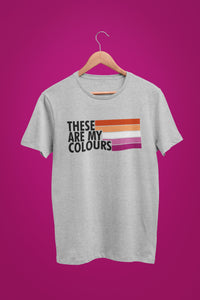 Lesbian Flag Colours T Shirt | Rainbow & Co
