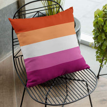 Load image into Gallery viewer, Lesbian Community Pride Flag Cushion | Rainbow & Co