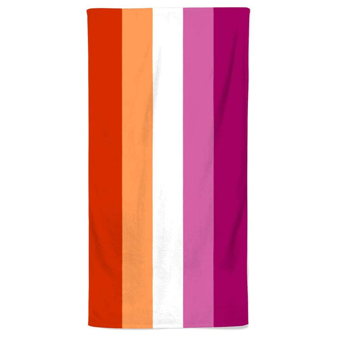 Lesbian Community Pride Flag Beach Towel | Rainbow & Co