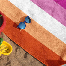 Load image into Gallery viewer, Lesbian Community Pride Flag Beach Towel | Rainbow & Co