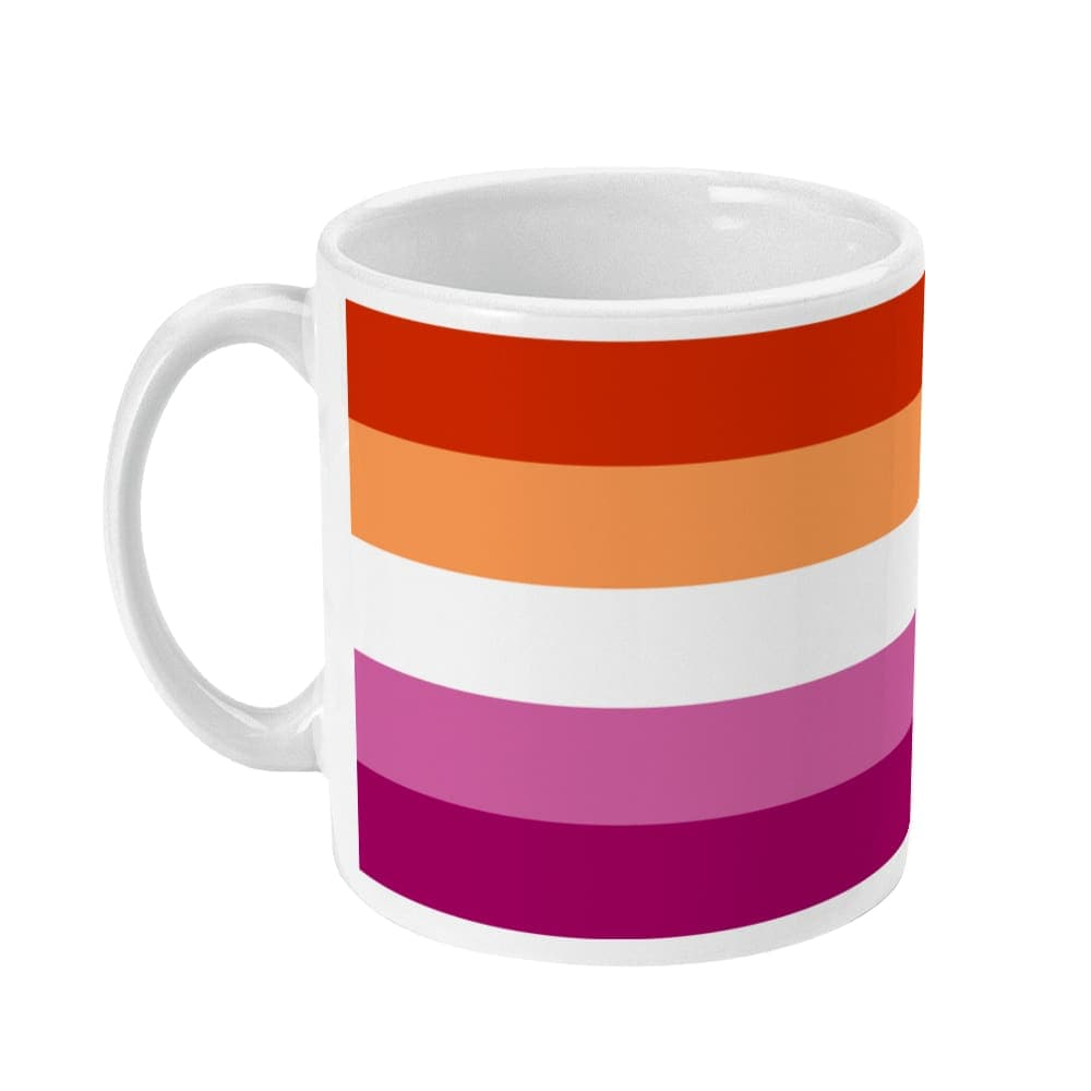 Lesbian Community Pride Flag Coffee Mug | Rainbow & Co