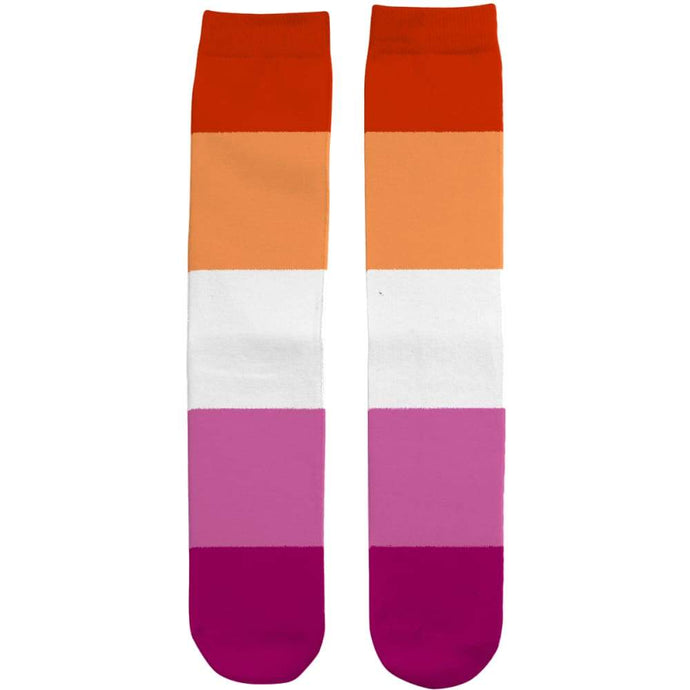 Lesbian Community Pride Flag Tube Socks | Rainbow & Co
