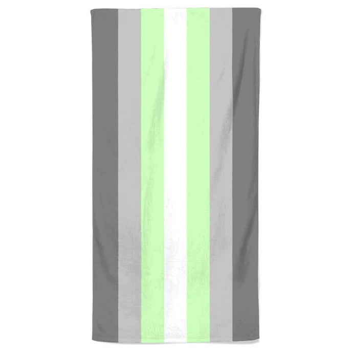 Demiandrogyne Flag Beach Towel | Rainbow & Co