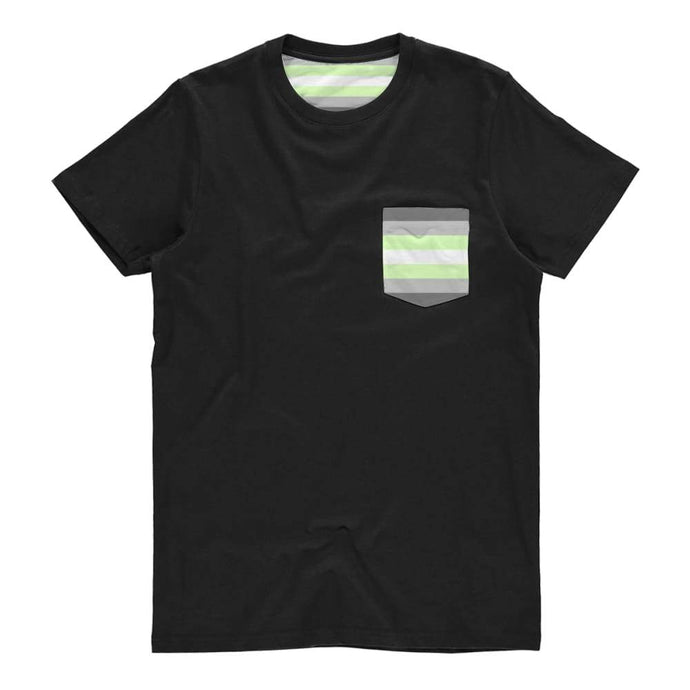 Demiandrogyne Pride Flag Pocket T Shirt | Rainbow & Co