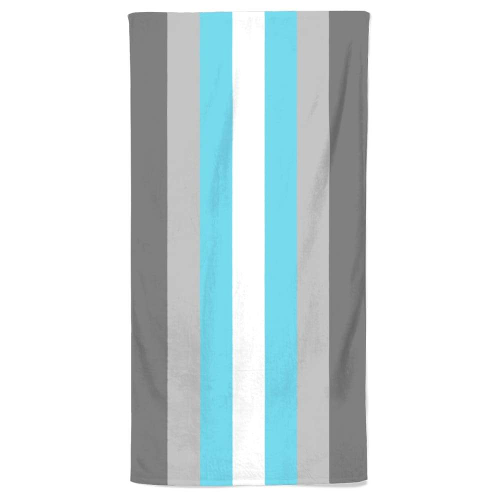 Demiboy Flag Beach Towel | Rainbow & Co