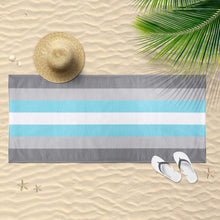 Load image into Gallery viewer, Demiboy Flag Beach Towel | Rainbow & Co