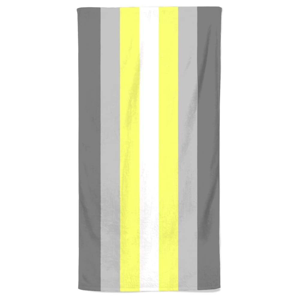 Demigender Flag Beach Towel | Rainbow & Co