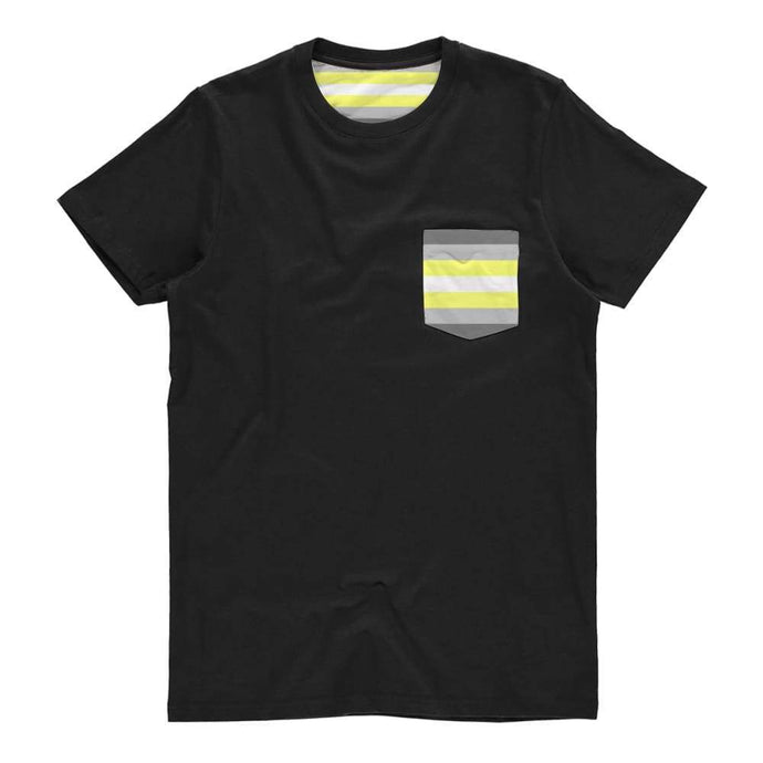 Demigender Pride Flag Pocket T Shirt | Rainbow & Co