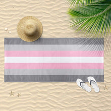 Load image into Gallery viewer, Demigirl Flag Beach Towel | Rainbow & Co