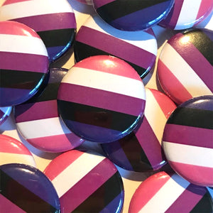 Genderfluid Pride Flag Badge 25mm