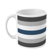 Load image into Gallery viewer, Greygender Flag Coffee Mug | Rainbow & Co