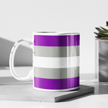Load image into Gallery viewer, Greysexual Pride Flag Mug | Rainbow & Co