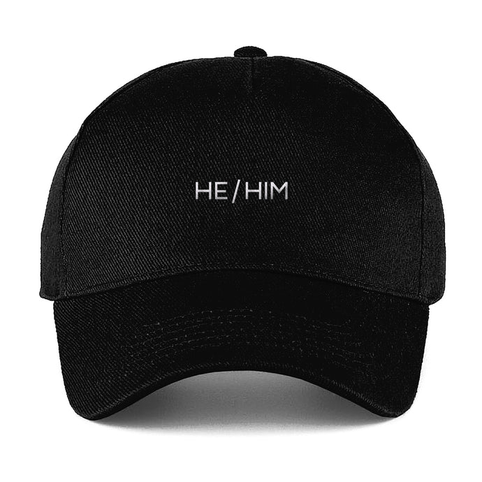 He Him Baseball Cap | Black | Rainbow & Co