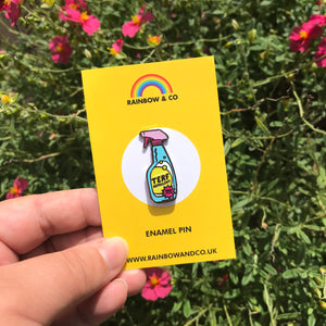 TERF Repellent Trans Pride Pin | Rainbow & Co