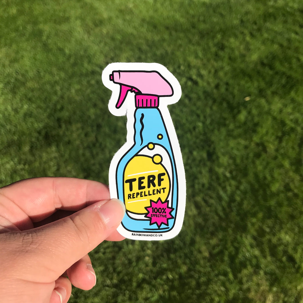 TERF Repellent Sticker | Rainbow & Co