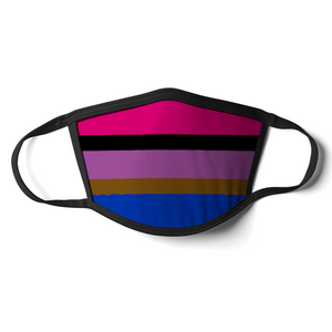 Inclusive Bisexual Face Mask | Inclusive Bisexual Flag Mask | Rainbow & Co