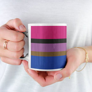 Inclusive Bisexual Pride Flag Mug | Rainbow & Co