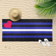 Load image into Gallery viewer, Leather Flag Beach Towel | Rainbow & Co