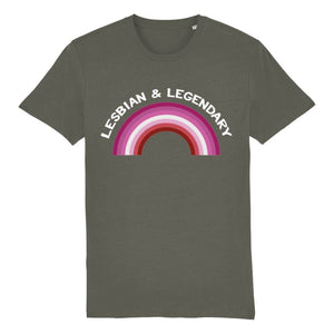 Lesbian & Legendary T Shirt | Rainbow & Co