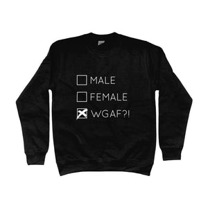 Male Female WGAF! Sweatshirt | Rainbow & Co