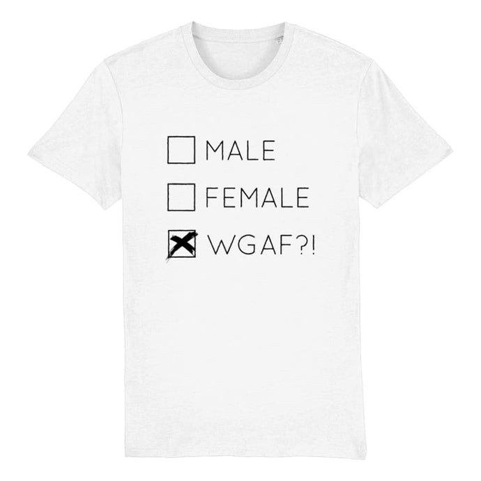 Male Female WGAF?! Trans Pride T Shirt | Rainbow & Co