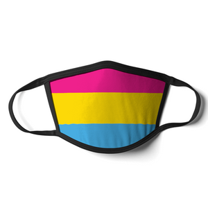 Pansexual Face Mask | Pansexual Flag Mask | Rainbow & Co