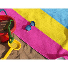 Load image into Gallery viewer, Pansexual Flag Beach Towel | Rainbow & Co