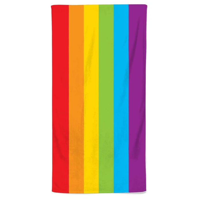 Pride Rainbow Flag Beach Towel | Rainbow & Co