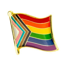 Load image into Gallery viewer, Progress Pride Flag Pin | Rainbow & Co