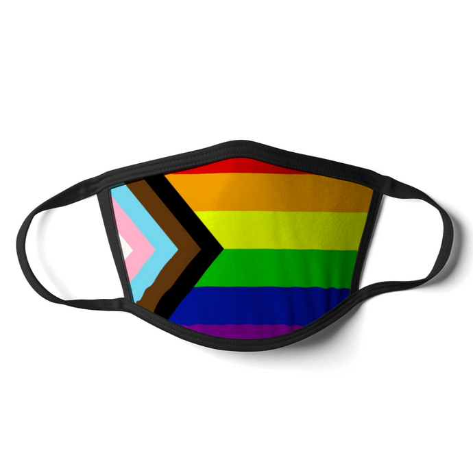 Progress Pride Flag Face Mask | Progress Pride Flag Mask | Rainbow & Co