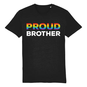 Proud Brother T Shirt | Black | Rainbow & Co
