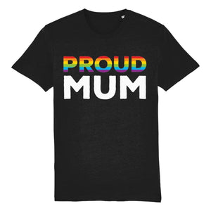 Proud Mum T Shirt | Black | Rainbow & Co