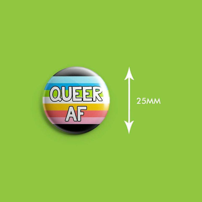 Queer AF Badge | Rainbow & Co