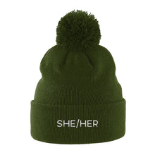 Load image into Gallery viewer, She Her Pronouns Hat | Green | Rainbow & Co