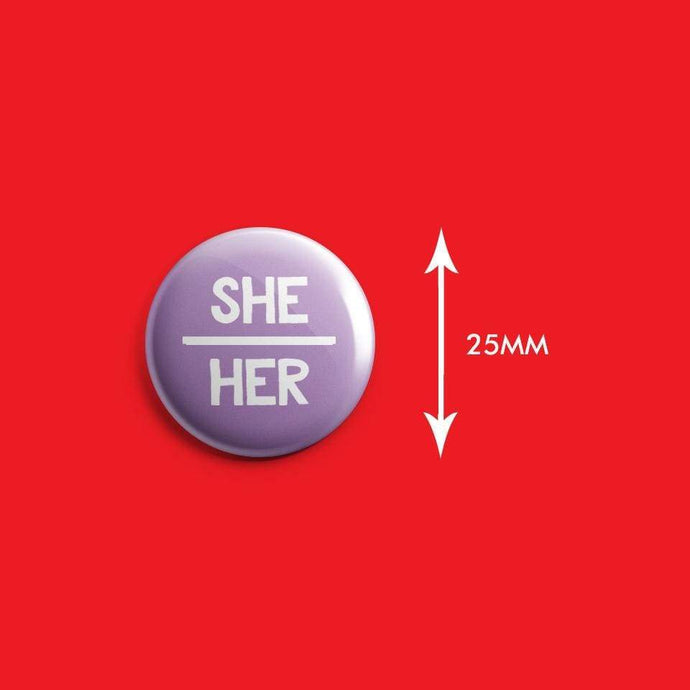 She/Her Pronoun Badge | Rainbow & Co