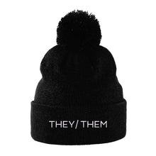 Load image into Gallery viewer, They Them Pronouns Hat | Black | Rainbow & Co