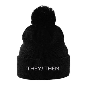 They Them Pronouns Hat | Black | Rainbow & Co