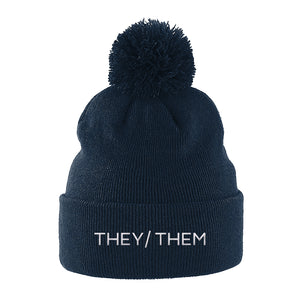 They Them Beanie Hat | Black | Rainbow & Co