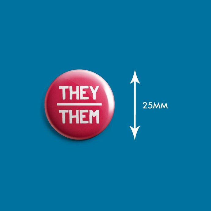 They/Them Pronoun Badge | Rainbow & Co