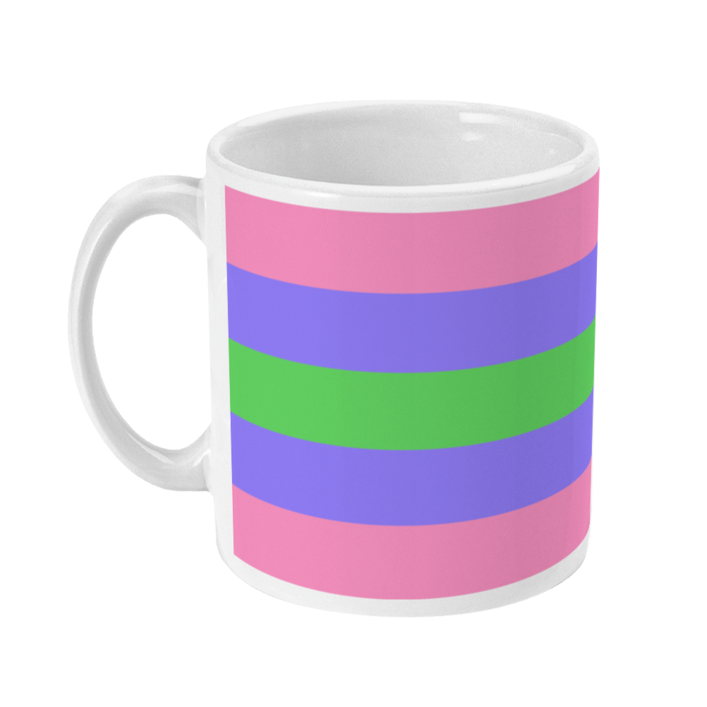 Trigender Flag Coffee Mug | Rainbow & Co