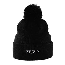 Load image into Gallery viewer, Ze Zir Pronouns Hat | Black | Rainbow & Co