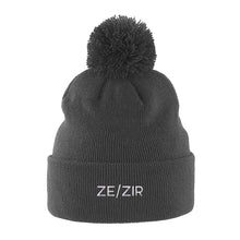Load image into Gallery viewer, Ze Zir Beanie Hat | Grey | Rainbow & Co