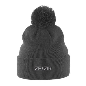 Ze Zir Beanie Hat | Grey | Rainbow & Co