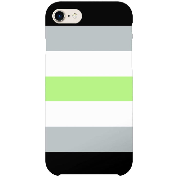 Agender Flag Phone Case | iPhone 7 | Rainbow & Co