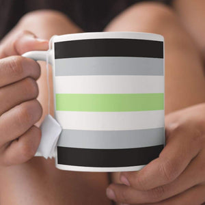 Agender Pride Flag Coffee Mug | Rainbow & Co