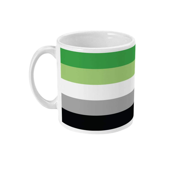 Aromantic Pride Flag Coffee Mug | Rainbow & Co