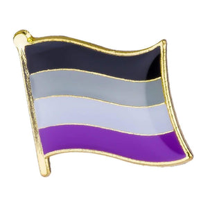 Asexual Flag Pin | Rainbow & Co