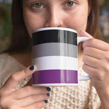 Load image into Gallery viewer, Asexual Pride Flag Coffee Mug | Rainbow & Co